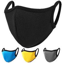 1 pçs impressão bonito preto algodão grosso respirável coldproof máscara de poeira lavável reutilizável respirável máscaras à prova de vento máscara