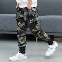 Printemps enfants garçons coton Sport pantalon décontracté Camouflage imprimé adolescentes Cargo pantalon enfants pantalon faisceau pied pantalon