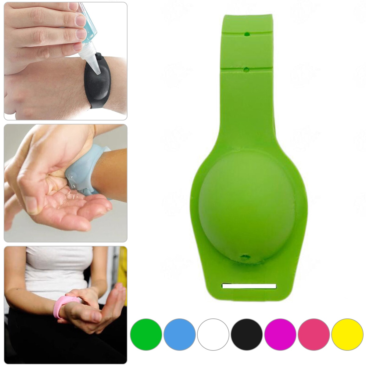 Sanitizer Bracelet Pumps Disinfectant Hand Sanitizer Dispensing Portable Silicone Bracelet Wristband Hand Dispenser