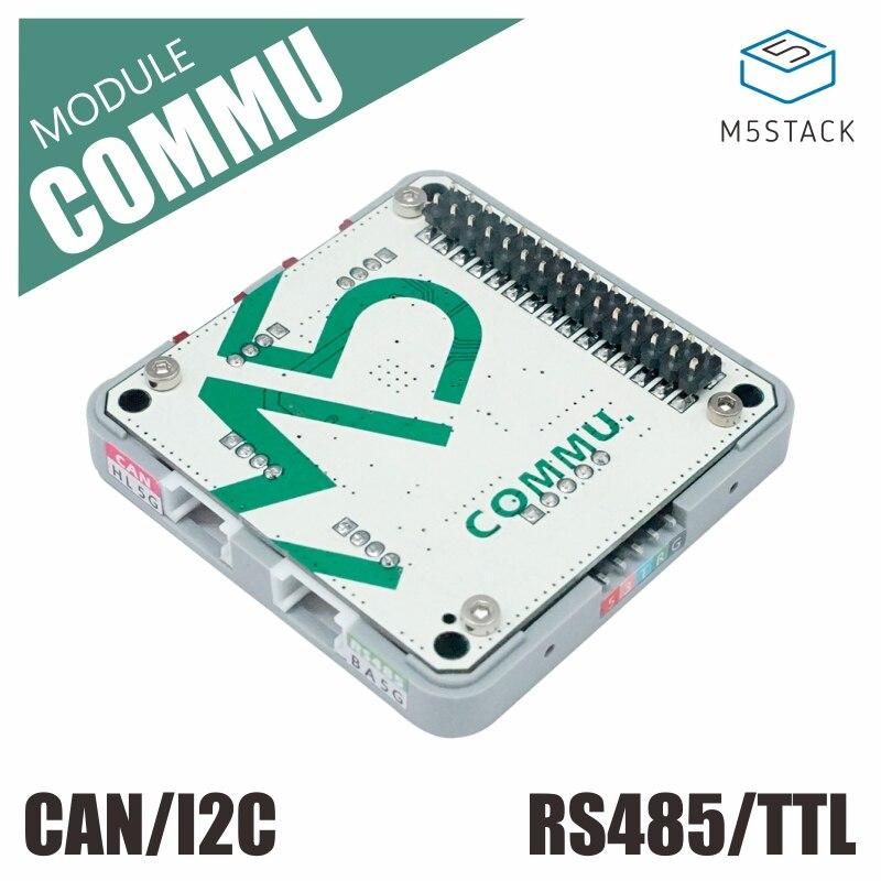 M5Stack nuevo módulo COMMU extender RS485/TTL CAN/I2C puerto con MCP2515 TJA1051 SP3485 Placa de desarrollo para Arduino EP32 Kit