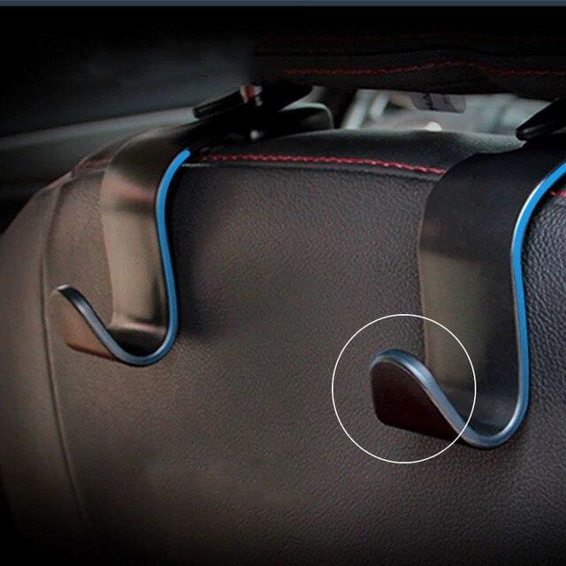 Фото 4x автомобильные крючки спинки сиденья сумка вешалка для bmw