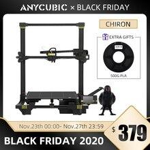 Anycubic Chiron 3D yazıcı artı boyutu TFT otomatik tesviye ekstruder çift Impressora 3D yazıcı kiti DIY Gadget 3d Drucker