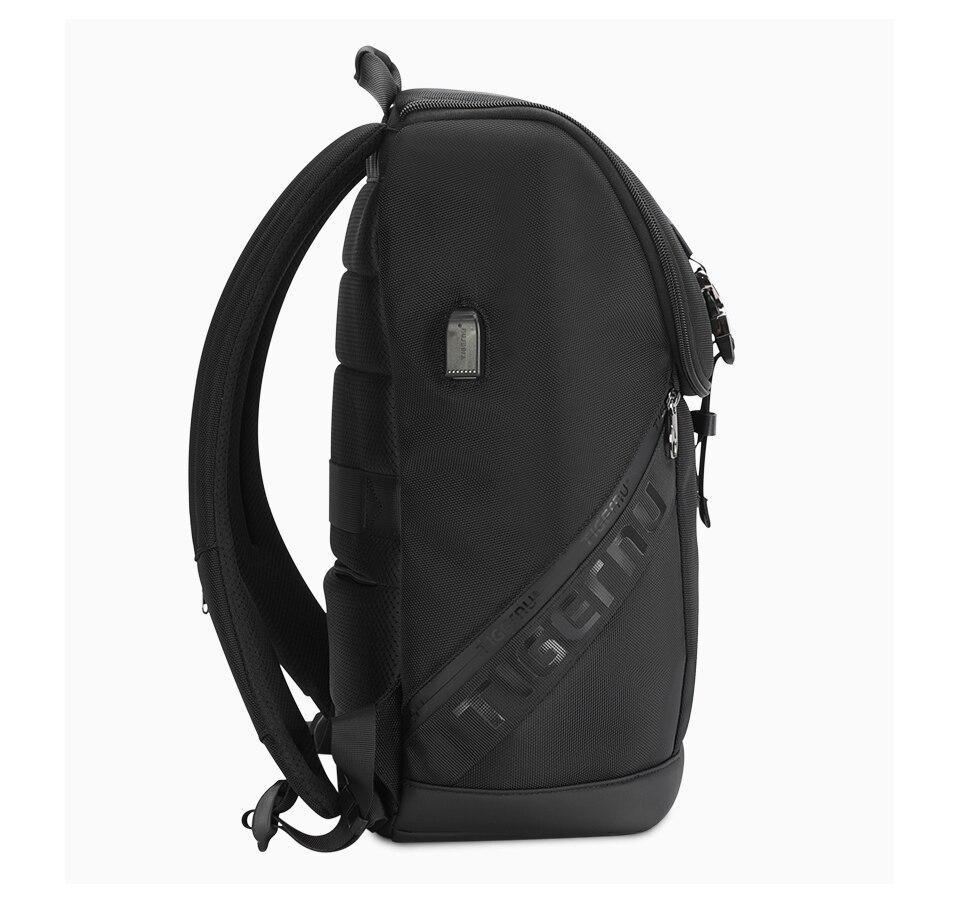 Homem mochila negócios casual sólido computador mochila