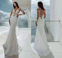 Сексуальное прозрачное атласное свадебное платье бохо Пляжное