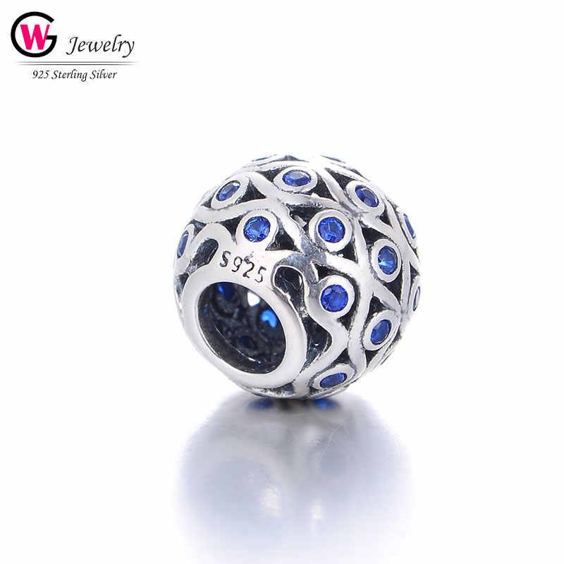 Серебряные бусины 925 пробы подлинный круглый шар болтается подвеска Подвески подходит для браслетов ожерелья ювелирные изделия Mujer