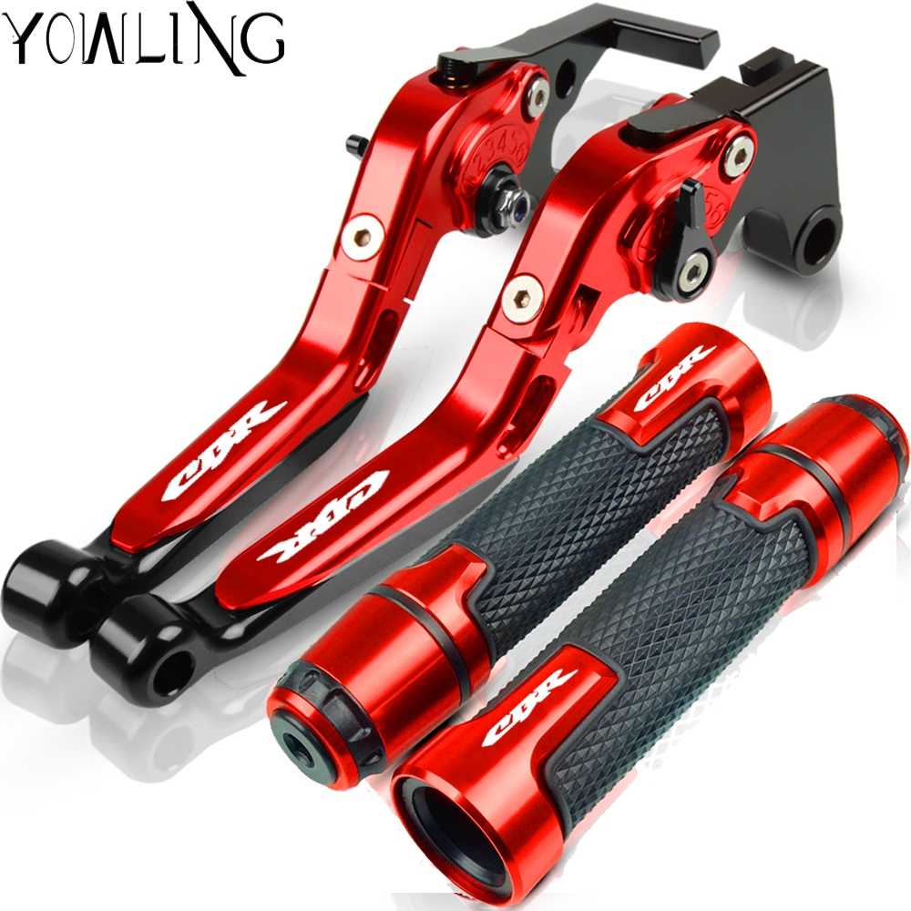 For <font><b>HONDA</b></font> CBR600F <font><b>CBR</b></font> <font><b>600F</b></font> CBR600 F 2011 2012 2013 Motorcycle Brake Clutch Levers Handlebar Hand Grips Handle Bar End Cap Cover image
