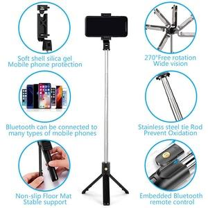 Image 5 - Xiletu 3 In 1 Draadloze Bluetooth Selfie Stick Opvouwbare Mini Statief Uitbreidbaar Monopod Met Afstandsbediening Voor Iphone Ios Android