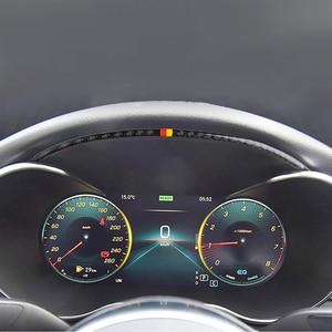 Carbon Fiber Dashboard Oil Meter Decoration Strip For Mercedes Benz C Class W205 GLC 2015-2018 Automotive Interior Strip