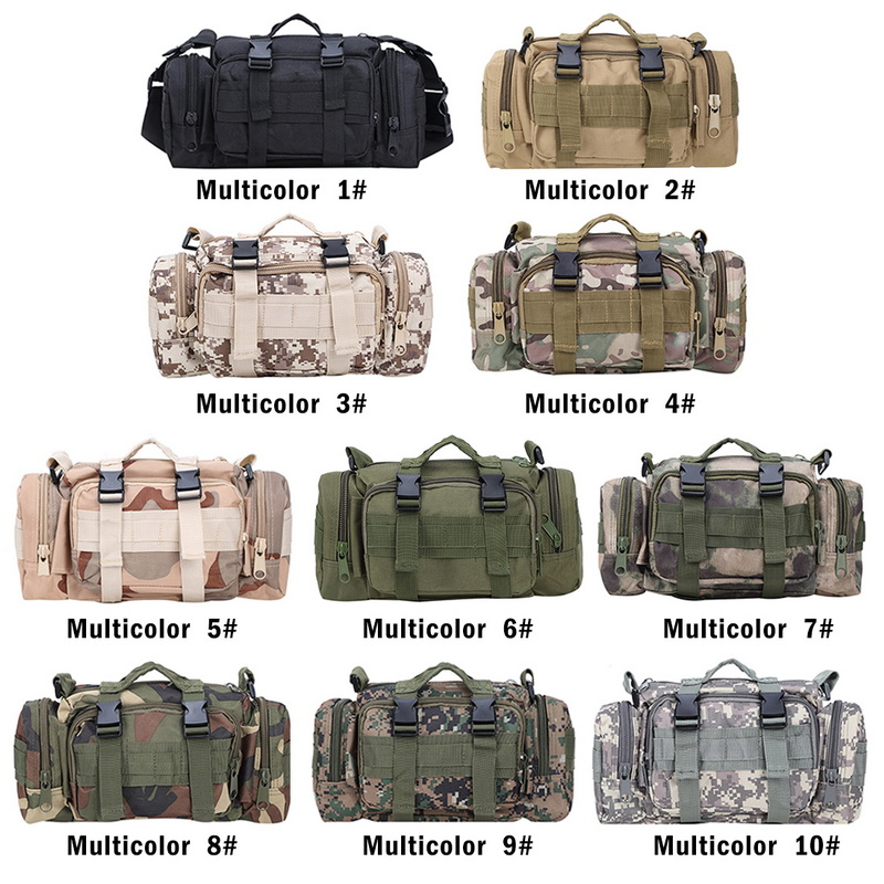 SHUJIN Tactical Waist Pack Deployment Bag Military Bicycle Motorcycle 3P Waterproof Fanny Packs Camera Bag Camo Utility Pouch