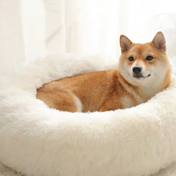 Sleep Soft Cat Dog Bed Warm Round Kennel Comfortable Calm Pet Bed Small Medium Large Dog Cushion Mat Washable House image
