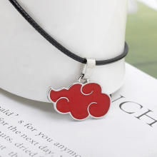 Red Cloud Pendant Necklace for Women Japanese Anime Accessories Cosplay Konoha Ninja Village Akatsuki Itachi Men's Chain Jewelry