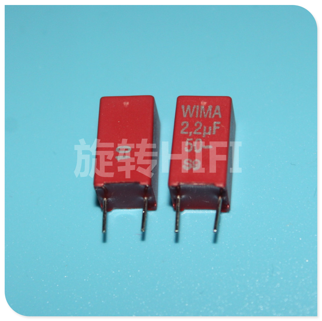 10PCS NEW RED WIMA MKS2 2.2UF 50V 2U2 225 PCM5 Audio 2.2u/50v Hot Sale Mks 2200nf50v