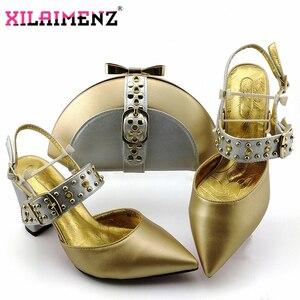 Image 5 - Kraliyet Mavi Yeni Tasarım İtalyan Zarif Ayakkabı Ve Çanta Seti İtalyan Rahat Topuklu parti ayakkabıları Ve çanta seti Düğün Için