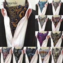 Matagorda Men Tie Paisley Floral Jacquard 100% Silk Necktie