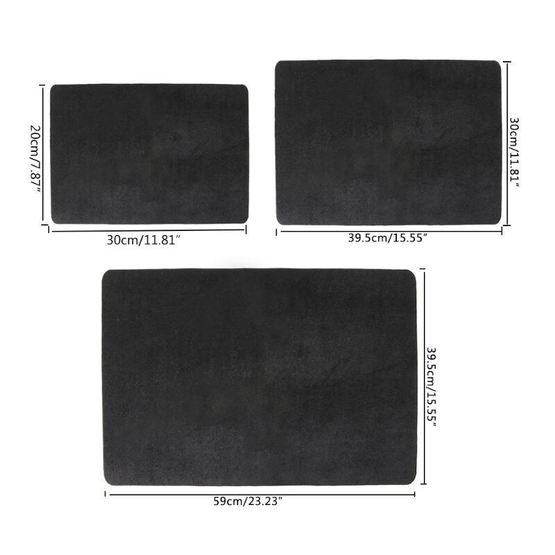 3 tamanhos preto profissional baralho cartão de poker esteira truques mágicos adereços mágico moeda almofada para mágicos jogos placa diária
