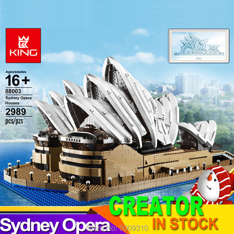 2989pcs Compatible  10234 creator Sydney Opera House Expert set building blocks bricks birthday christmas gifts toys 1