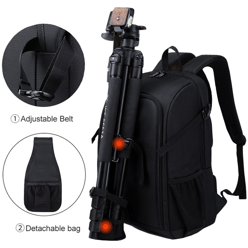 cheapest Big Capacity Photography Camera Waterproof Shoulders Backpack Video Tripod DSLR Bag w  Rain Cover for Canon Nikon Sony Pentax