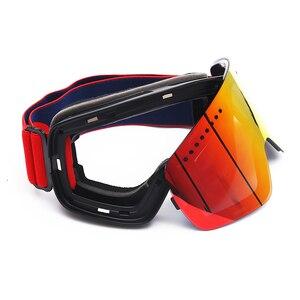 Image 5 - Jiepolly magnes gogle narciarskie sporty zimowe zimowe okulary snowboardowe Anti Fog ochrona UV skuter kulisty okulary narciarskie FJ037