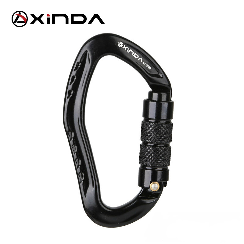 XINDA Professional Rock Climbing Carabiner 22KN Safety Pear-shape Safety Buckle Camping Hiking Survival Kit Protective Equipment