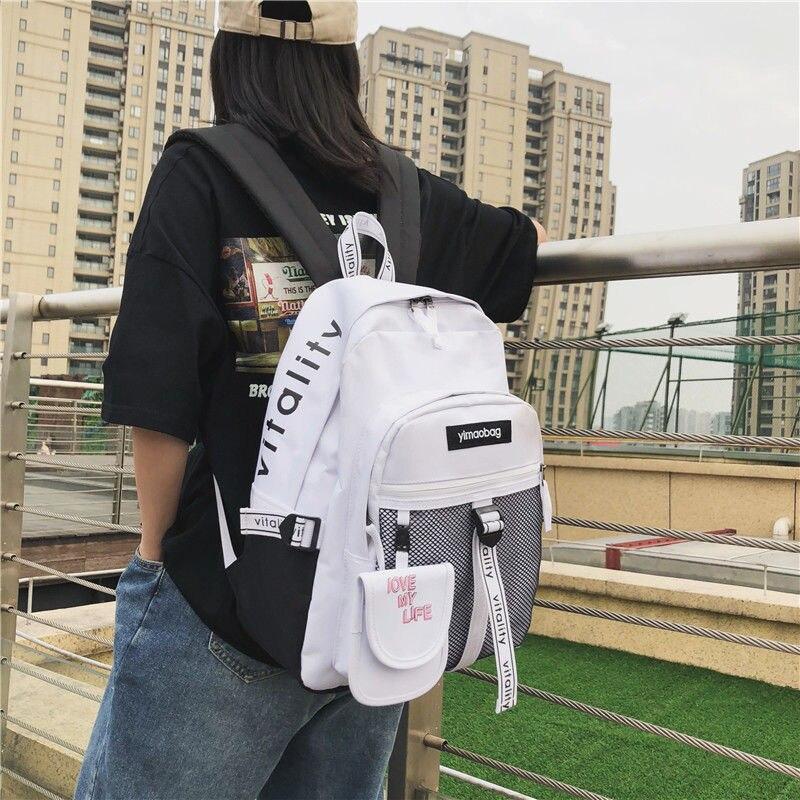 School Bags For Teenage Girls  Backpack Schoolbag Boys Large Capacity Campus Student Bag Women Bookbags