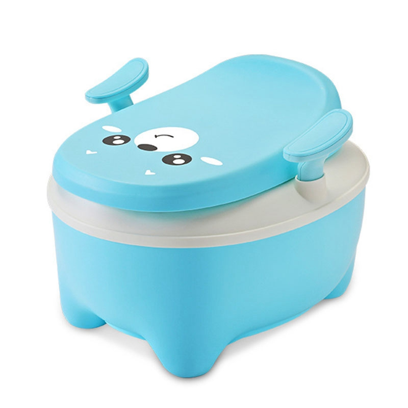 Baby Potty Toilet Child Training Pot Toilet Circle Cartoon Potty Portable Child Urinal Comfortable Backrest Potty