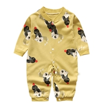 цены на Autumn Toddler Infant Rompers Baby Boy Girl Cartoon Dog Print Outfits Cotton Romper Jumpsuit Newborn Clothes Baby Clothing 3-12M в интернет-магазинах
