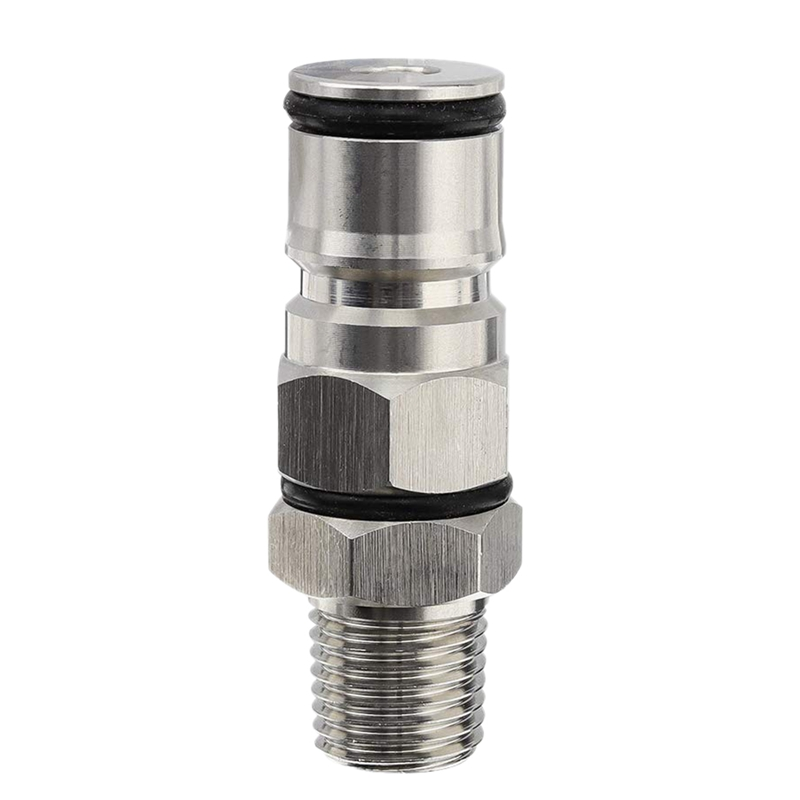 ABUI 1/4 Inch Male Npt Hex Nipple Gas Ball Lock Post with Poppers Ball Lock Adapter for Brewing Beer|Beer Brewing| |  - title=