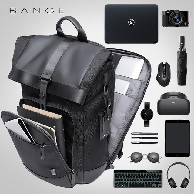 Bange Men Fashion Backpack Multifunctional Waterproof Backpack Daily Travel Bag Casual School Rucksack for Unisex 2