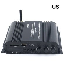 Lepy LP-269FS HiFi Bluetooth Car Power Amplifier 4-channel Stereo Music Player Audio Support SD USB FM US PLUG lp 168s hi fi stereo usb bluetooth car audio amplifier support edr bluetooth 2 1 channel with remote control