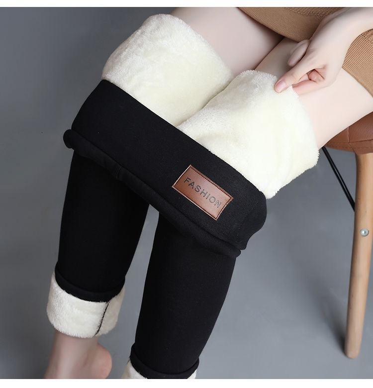 Woman Lamb Down Hit Pant Leggings Knicker Girl Winter Increase Down Thickening Clothes High Keep Warm Pants Trousers