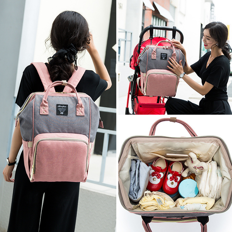 Diaper Bag Multi-functional Large-Volume Chu Xing Bao Waterproof Mummy Bag Brand New Upgrade Mummy Backpack Manufacturers Direct