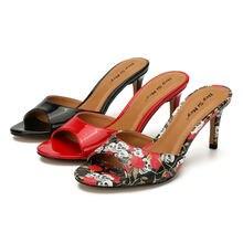 Женские туфли лодочки на высоком каблуке 8 см; пикантные шлепанцы;