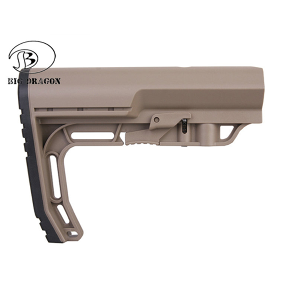 EmersonTactical Stock Mission Rifle M4 Stock Jinming Mil Tactical MF After Care Back Tactical Minimalist Mission Stock Gel Ball