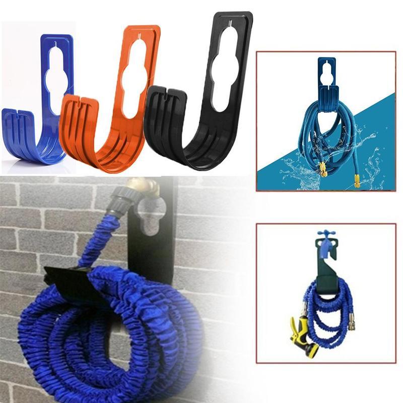 garden home hose holder pipe hanger storage hosepipe hook watering reel rack/_ZI