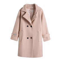 2019 New Autumn Winter Woolen Coat Female Mid-Long Korean Temperament Womens Popular Outerwear female Jacket
