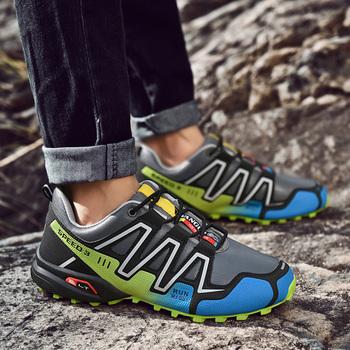 Travel Outdoor Lover buty trekkingowe męskie wodoodporne buty górskie buty wspinaczkowe oryginalne skórzane buty Woodland polowanie taktyczne tanie i dobre opinie seedstar Mesh (air mesh) Przypadkowi buty RUBBER Slip-on Pasuje prawda na wymiar weź swój normalny rozmiar Podstawowe