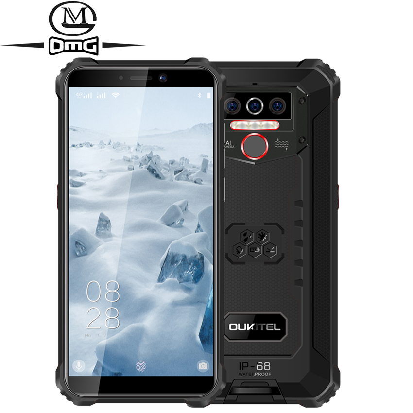 OUKITEL WP5 8000 мА/ч, IP68 противоударный Прочный смартфон Android 9,0 тройной Камера уход за кожей лица/функцией отпечатков пальцев (Fingerprint ID), 5,5