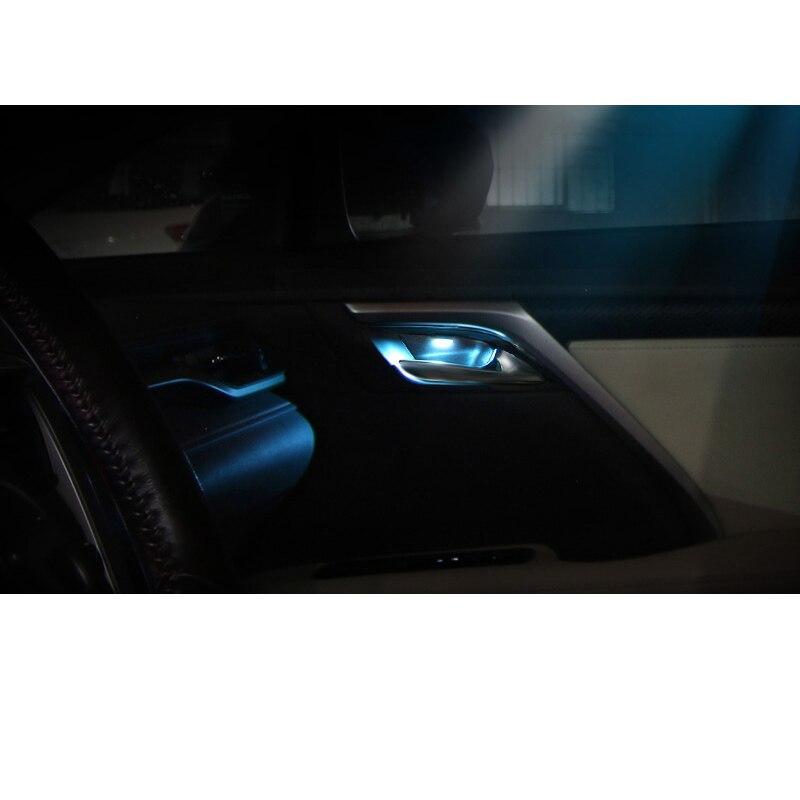 Lsrtw2017 สำหรับ Lexus RX RX300 RX200t RX450h รถประตูด้านในบรรยากาศตกแต่งภายใน Moldings อุปกรณ์เสริม