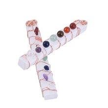 Çakra şifa kristalleri taşlar boncuk tel sarılmış ham Selenite sopa değnek Yoga meditasyon manevi Reiki dengeleme