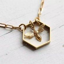 Модные Классические геометрический шестиугольник Золотой пчелы