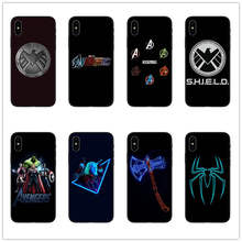 Avengers Marvel Shield Phone Case black silicone for apple iphone SE XR 5 6 5S X 7 8 6S PLUS XS XS MAX case Avengers cover coque avengers volume 6