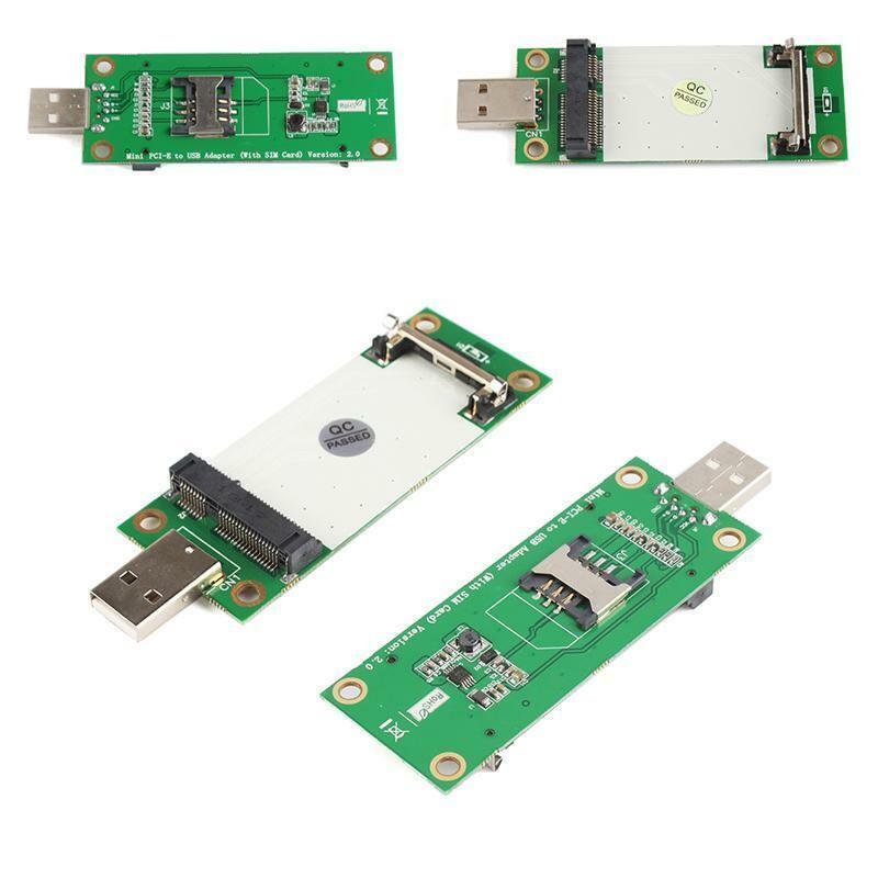 Handy Mini PCI-E Wireless WWAN Card To USB Adapter Card With SIM Card Slot Fine