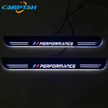 CARPTAH Trim Pedal Car Exterior Parts LED Door Sill Scuff Plate Pathway Dynamic Streamer light For BMW F10 F18 5Series 2010-2015