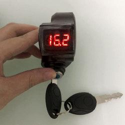Sepeda Listrik Thumb Throttle Voltmeter Power Display Digital Tegangan Baterai Kunci Switch Power Lock Listrik Aksesoris Sepeda