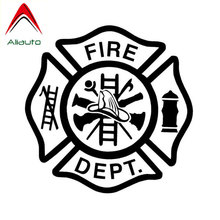 Aliaut Personalized Fashion Car Stickers Fire Dept To Remind