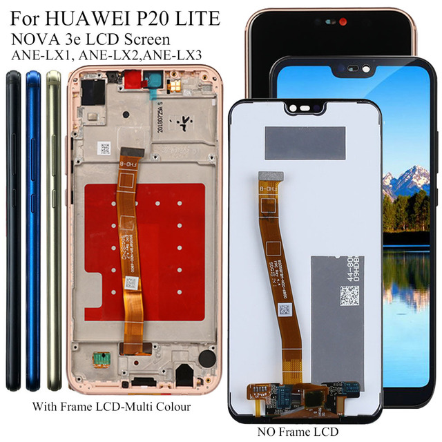 Display For Huawei P20 P 20 Lite ANE LX3,LX1/Nova 3e Lcd Display Touch Screen Digitizer Replacement Tested Phone LCD Screen
