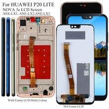 Display para huawei p20 p 20 lite ANE LX3, lx1/nova 3e display lcd de toque digitador da tela substituição testado tela lcd do telefone