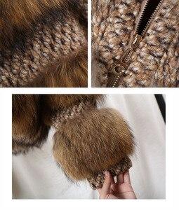 Image 5 - Oftbuy 2020 Winterjas Vrouwen Parka Echte Bontjas Natuurlijke Wasbeer Bont Wollen Jas Bomberjack Koreaanse Streetwear Nieuwe Oversized