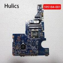 Hulics Origina Voor Hp CQ42 G42 CQ62 G62 Laptop Moederbord Pavilion 595184-001 DA0AX1MB6H1 DA0AX1MB6H0 HM55 DDR3 Gratis Zachte pak