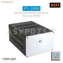 PT-2000 HIFI тороидальный сбалансированный изолирующий трансформатор 2000 Вт ЕС Разъем AC источник питания процессор